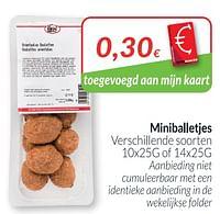 Miniballetjes-Huismerk - Intermarche