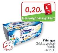 Pâturages griekse yoghurt vanille-Paturages