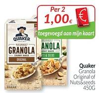 Quaker granola original of nuts+seeds-Quaker
