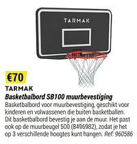 Basketbalbord sb100 muurbevestiging-Tarmak