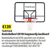 Basketbalbord sb700 hoogwaardig backboard-Tarmak