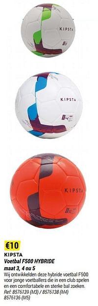 Voetbal f500 hybride-Kipsta