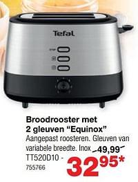Tefal broodrooster met 2 gleuven equinox tt520d10-Tefal