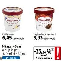 Häagen-dazs alle ijs-Haagen-Dazs