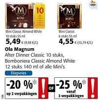 Ola magnum after dinner classic, bomboniera classic almond white of alle mini`s-Ola