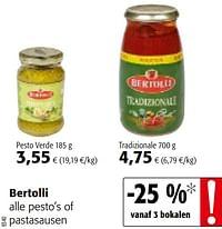Bertolli alle pesto`s of pastasausen-Bertolli