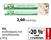 Gia knoflookpasta met zonnebloemolie-Huismerk - Colruyt