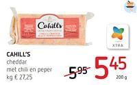 Cahill`s cheddar met chili en peper-Cahill's
