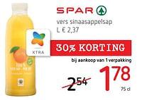 Vers sinaasappelsap-Spar