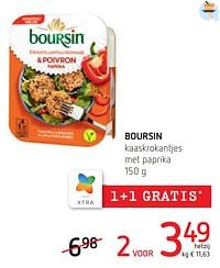 Boursin kaaskrokantjes met paprika-Boursin