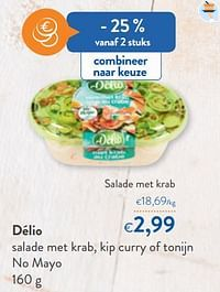 Délio salade met krab-Delio