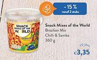 Snack mixes of the world brazilian mix chilli + samba-Snack Mixes of the World