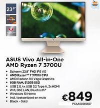 Asus vivo all-in-one amd ryzen 7 3700u-Asus