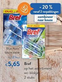 Bref blue activ` blauw water-Bref