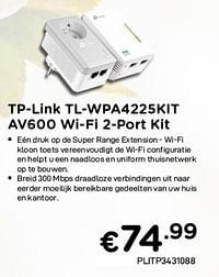 Tp-link tl-wpa4225klt av600 wi-fi 2-port kit-TP-LINK