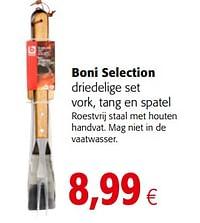 Boni selection driedelige set vork, tang en spatel-Boni