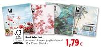 Boni selection servetten bloemen, jungle of strand-Boni