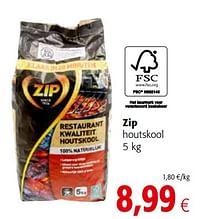 Zip houtskool-Zip
