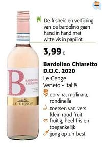 Bardolino chiaretto d.o.c. 2020 le cenge veneto - italië-Rosé wijnen