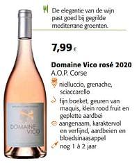 Domaine vico rosé 2020 a.o.p. corse-Rosé wijnen