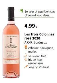 Les trois colonnes rosé 2020 a.o.p. bordeaux-Rosé wijnen