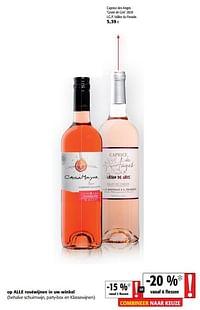 Caprice des anges grain de gris 2020 i.g.p. vallée du paradis-Rosé wijnen