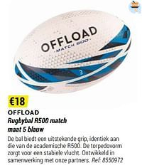 Rugbybal r500 match-OFFLOAD