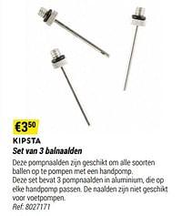 Set van 3 balnaalden-Kipsta