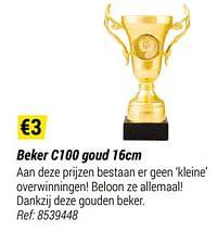 Beker c100 goud-Huismerk - Decathlon