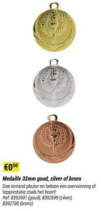 Medaille goud-Huismerk - Decathlon