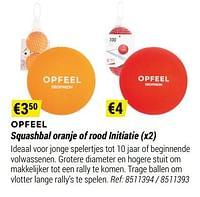 Opfeel squashbal oranje of rood initiatie-Huismerk - Decathlon