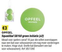 Opfeel squashbal sb160 groen initiatie-Huismerk - Decathlon