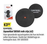 Opfeel squashbal sb560 rode stip-Huismerk - Decathlon
