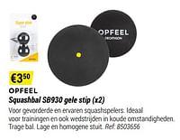 Opfeel squashbal sb930 gele stip-Huismerk - Decathlon