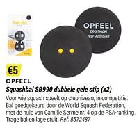Opfeel squashbal sb990 dubbele gele stip-Huismerk - Decathlon