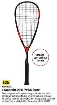Opfeel squashracket sr560 verhuur in club-Huismerk - Decathlon