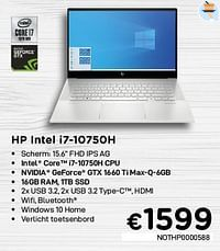 Hp intel i7-10750h nothp0000588-HP