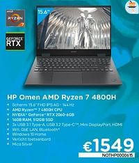 Hp omen amd ryzen 7 4800h nothp0000615-HP