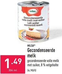 Gecondenseerde melk-Milsa