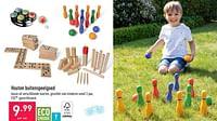 Houten buitenspeelgoed-Huismerk - Aldi