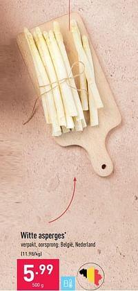 Witte asperges-Huismerk - Aldi