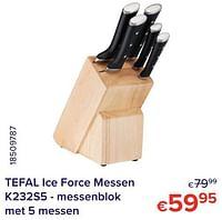 Tefal ice force messen k232s5 - messenblok-Tefal