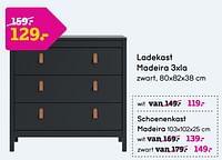 Ladekast madeira 3xla-Huismerk - Leen Bakker