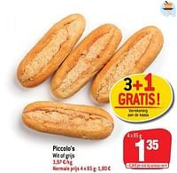 Piccolo`s wit of grijs-Huismerk - Match