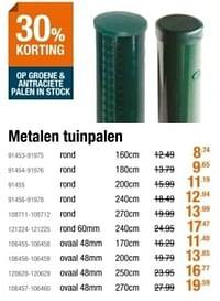 Metalen tuinpalen-Huismerk - Cevo