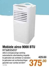 Mobiele airco 9000 btu-Huismerk - Cevo