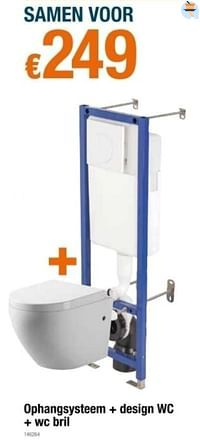 Ophangsysteem + design wc + wc bril-Huismerk - Cevo