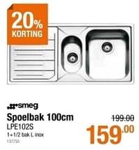 Spoelbak lpe102s-Huismerk - Cevo