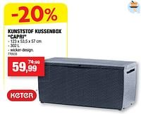Kunststof kussenbox capri-Keter