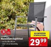 Aluminium stapelstoel-Flora  Best